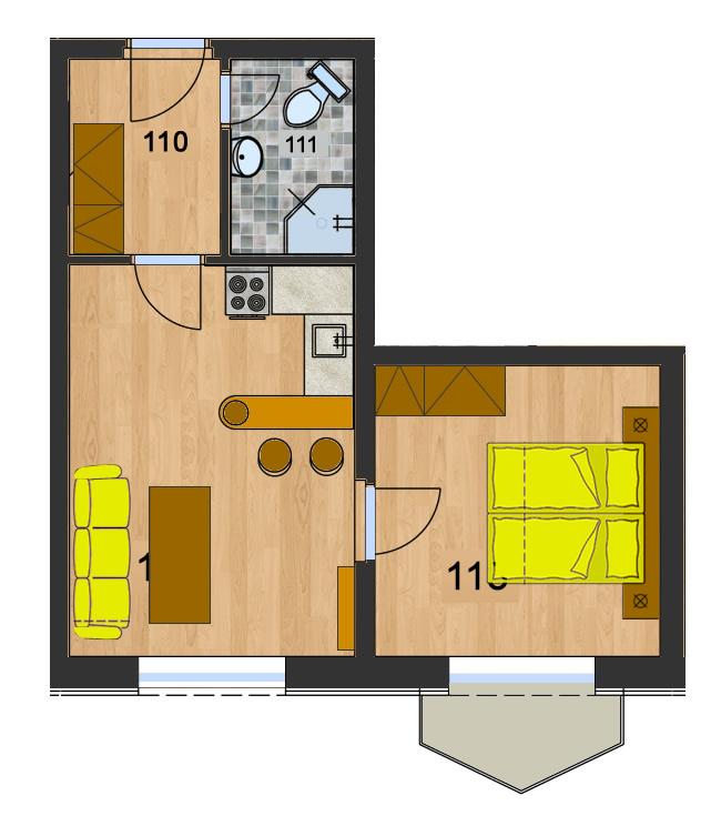 Byt 2 (2-izbový)
