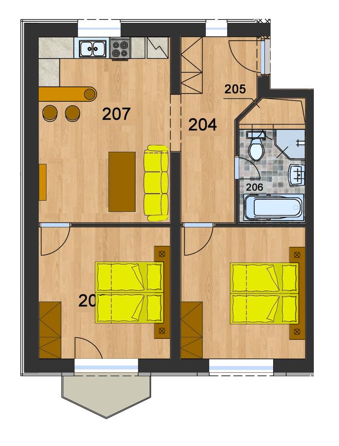 Byt 4 (3-izbový)