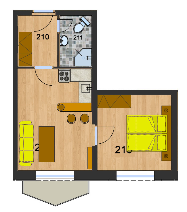 Byt 5 (2-izbový)