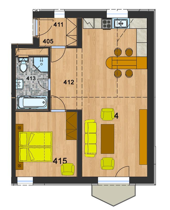 Byt 11 (2-izbový)