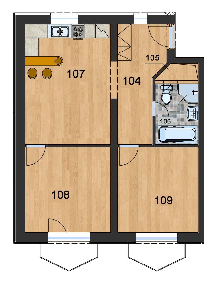 Byt 1 (3-izbový)